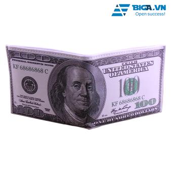 Ví Da Loại 1 Hình Dáng Tờ Tiền 100 USD USA2627