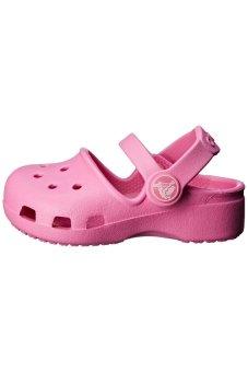 Giày lười bé gái Crocs Karin Clog K Party Pink 202822-6U9 (Hồng)