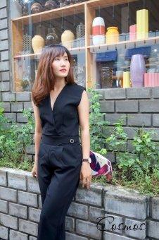 Jumpsuit dài Xavia Clothes Cosmos (đen)