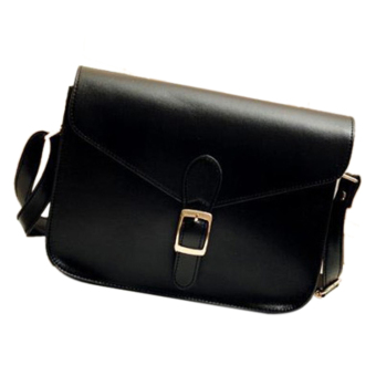 Women Retro PU Leather Handbag Shoulder Bag - Intl