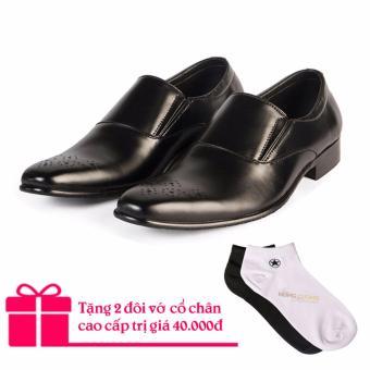 Giày tây da bò cao cấp Hùng Cường HC1030 (Đen)