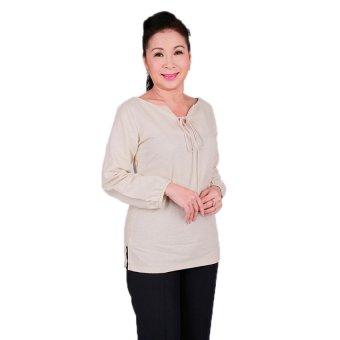 Áo kiểu nữ trung niên Ugether UPAR28 (Kem)