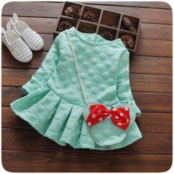 Váy Chấm Bi Kèm Túi Micky