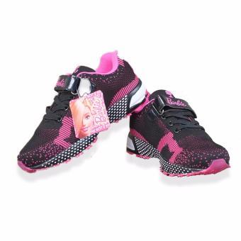 Giày thể thao bé gái Barbie 31625 từ 6-12 (đen hồng)