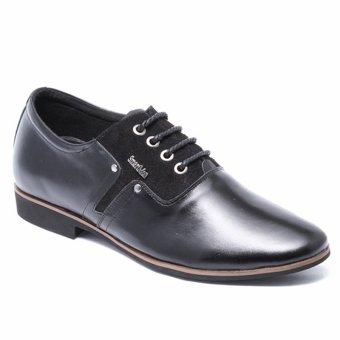 Giày da nam công sở lịch lãm SMARTMEN GD2-01 (Đen)