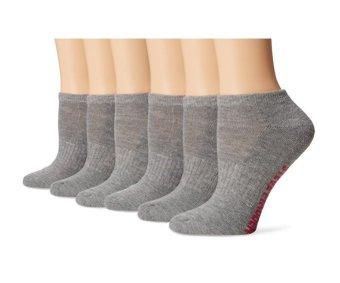 Bộ 6 đôi tất thể thao nữ Steve Madden Women's 1/2 Cushion Low Cut Athletic Sock 6 Pack (Mỹ) (Xám)