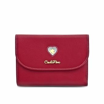 Ví nữ nấp gập Carlo Rimo 0303557-501-04 (màu đỏ)