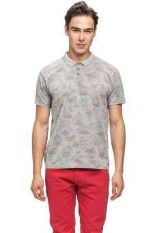 Bellfield Men's Printed Polo Shirt (Grey)