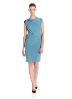 Áo đầm Nine West Women's Sleeveless Draped Sheath Dress with Shoulder Detail