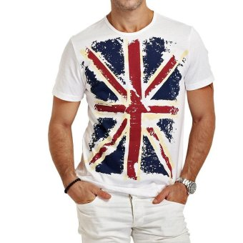 Brand new summer style Cotton men Clothing Male Slim Fit t shirt Man T-shirts Casual T-Shirts Swag mens tops tees (White) - intl