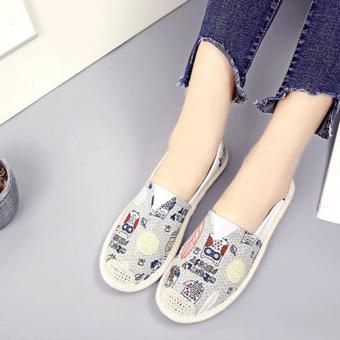 giày lười thời trang bomdo BGLT218 (xám)