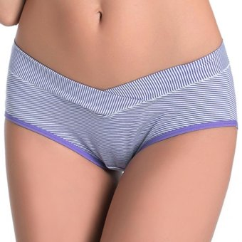 Cotton Pure Color Breathable U-Shape Low Waist Briefs for Pregnant Women - intl