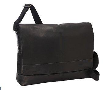 Túi laptop đeo vai nam da Combia Đen cao cấp eBags Colombian Leather Laptop Messenger (Mỹ)