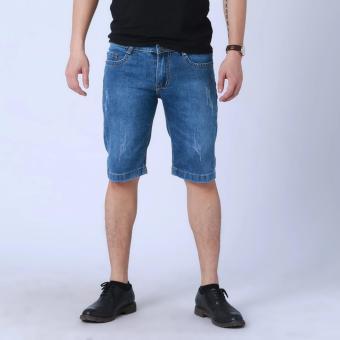 Quần short jean cào ngẫu nhiên cao cấp (Xanh)