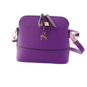 New Women Messenger Bags Vintage Small Shell Leather Handbag Casual Bag Free Shipping - intl