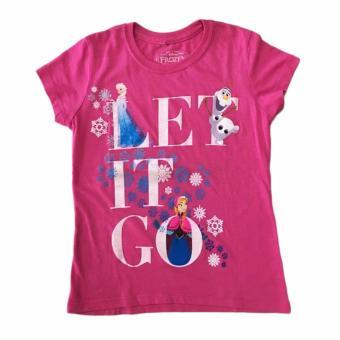 Áo thun tay ngắn bé gái Disney Frozen Let it go