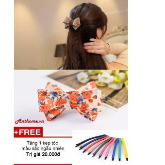 Dây buộc tóc nơ handmade tặng kẹp tóc