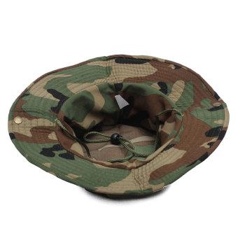 Unisex Military Camo Caps Bucket Camping Hiking Travel Sun Bob Fishing Hats Outdoor Dome Hats - Intl - Intl
