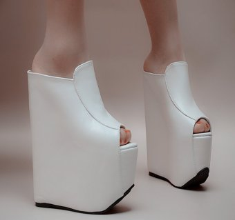 White Sexy Women 17cm Super High Heel Platform Sandals Flat with Thick Bottom Bohemia Contracted Comfortable Shoes - intl