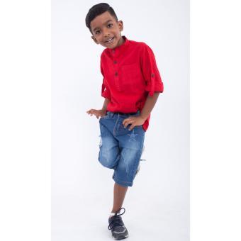 Quần lửng bé trai Ugether UKID158 (Xanh jeans nhạt)