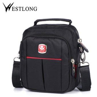 WESTLONG Men bag fashion mens shoulder bags, high quality nylon casual messenger bag business men's travel bags Black - intl