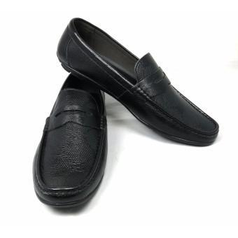 Giày lười nam da cao cấp GL-01 (Đen)