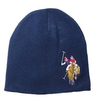 Mũ (nón) len nam xanh navy U.S. Polo Assn. Men's Solid Beanie (Mỹ)