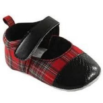 Giày bít mũi bé gái Luvable Friends 6-12M (Đỏ)