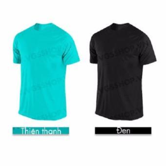 Bộ 2 áo thun LAKA A1013 (Xanh Ngọc + Đen)