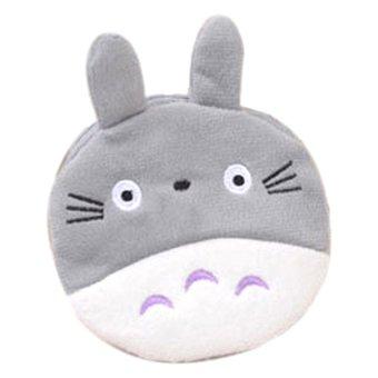 Fancyqube Cat Cute Girl Zipper Zero Wallet Coin Purse (Grey) - Intl