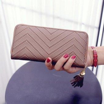 Women Lady Leather Card Holder Long Wallet Clutch Tassel Handbag Purse - intl