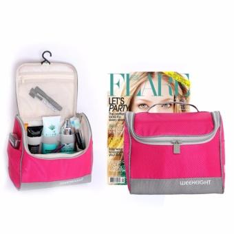 Túi đựng đồ trang điểm xách tay chống nước - màu tím