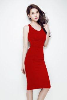 Đầm ôm Ngọc Trinh Dây Chéo lót Ngực TAMN147 (Đỏ)