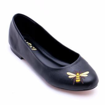 Giày Búp Bê Da Mờ Thêu Xinh Xắn MZBB42