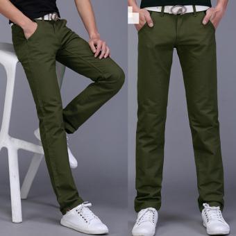 Quần nam kaki phong cách thời trang sành và sang - 130 (Xanh rêu)
