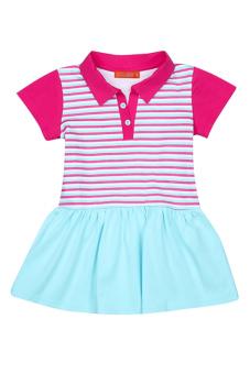 Đầm thun tay ngắn V.T.A.Kids BG41111X (Xanh)