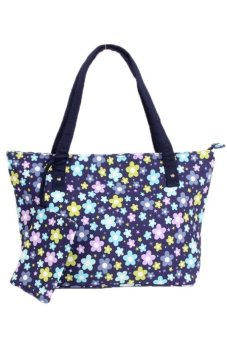 LALANG Women Blueberry Print Handbag Retro Shoulder Bags Blue