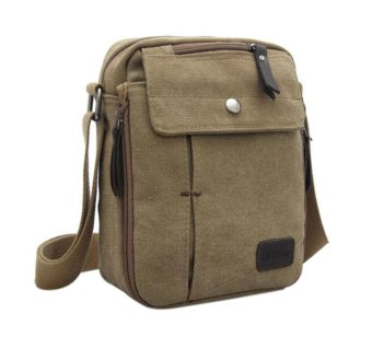 niceEshop Men Boys Mutifunctional Single Shoulder Cross Body Bag (Khaki)
