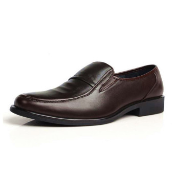 Men's Business Formal Dress Artificial Leather Shoes Slip-On Loafers - Intl
