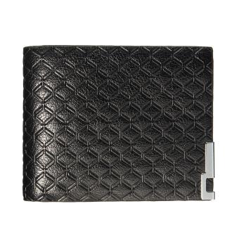Men Leather Zip Bifold Wallet Money Clip Card Holder Pocket Purse Case Clutch Black - Intl