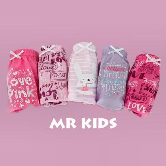 Set 5 quần lót Hàn Quốc cho bé gái Mr Kids Love Pink