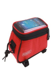 HKS Roswheel Mountain Bike Bicycle Front Top Tube Bag for Mobile Phone (Red) - intl