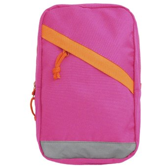 Women Ladies Nylon Big Capacity Casual Sports Travel Chest Bag Shoulder Sling Bag Money Phone Storage Bag Rose Red - intl