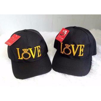 Nón nữ thời trang chữ Love phong cách LyLyFashion (đen)
