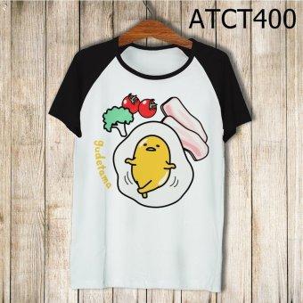 Áo Thun Trứng Lười Gudetama - MITADI - ATCT400 (Đen)