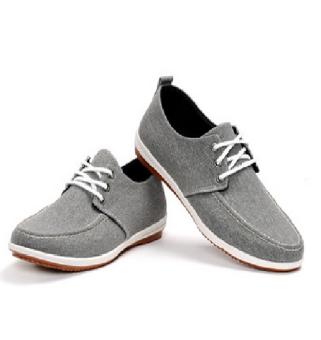 Giày vải Thắt dây Nam (Xám)