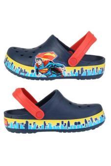 Xăng đan & Dép bé trai Crocs Crocband Superman Clog K Navy/TRd 202680-4L9 (Xanh Navy)