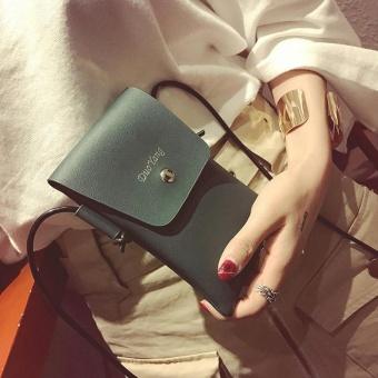 Women Soft Leather Crossbody Cellphone Purse Bag Small Wallet Shoulder Bag GN - intl