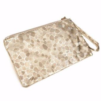 Women Lady Sparkling Sequins Clutch Evening Party Bag Handbag Tote Purse Wallet Gold - intl
