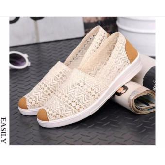 Giày slip-on nữ vải ren D&D - SF008